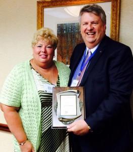 David and Susan Sheets with the Klinefelter Award.