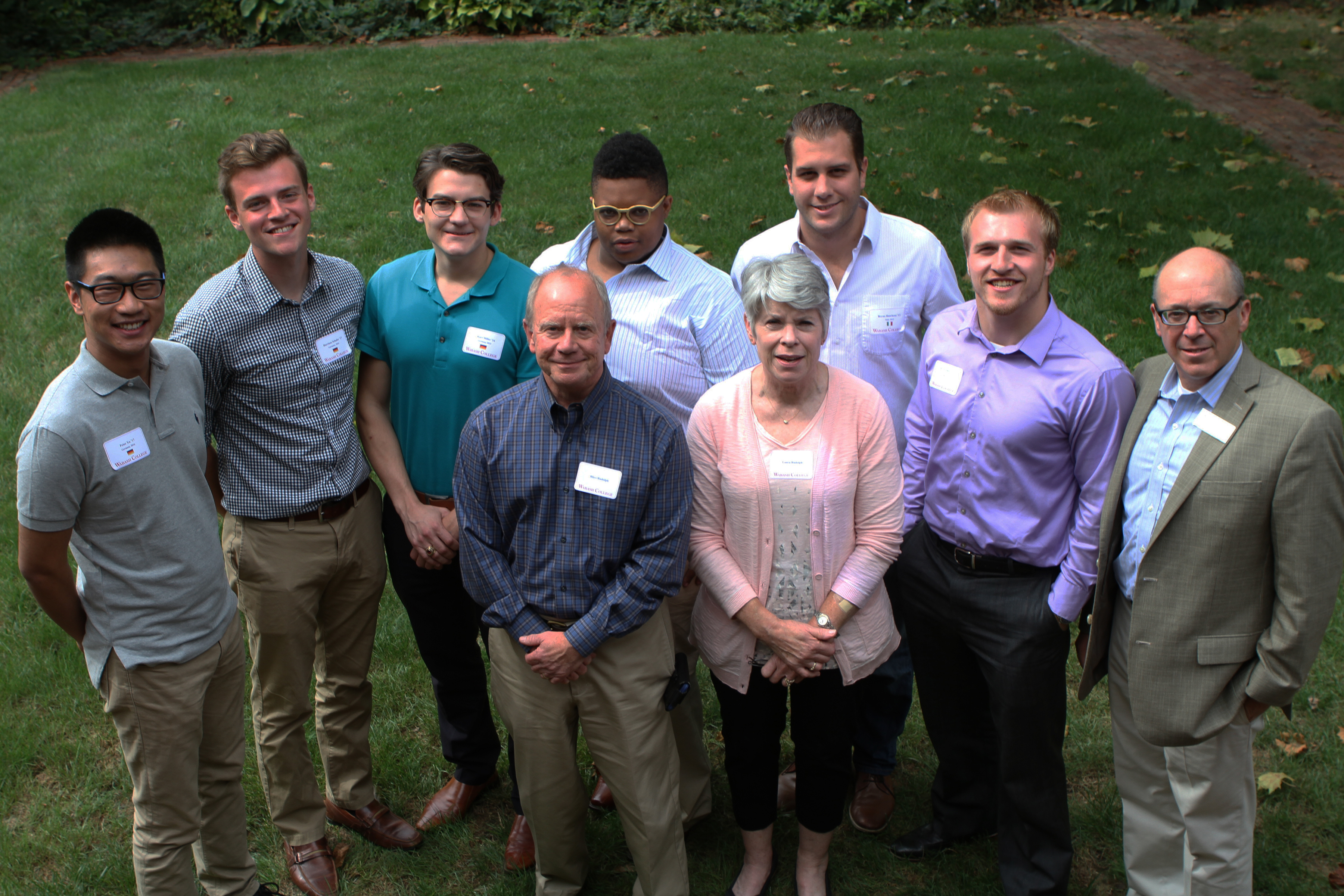 Students and alumni whose travels were sponsored by the Rudolph Memorial Fund include: (from left) Peter Xu '17, Harrison Schafer '17, Kurt Miller '16, Reggie Steele '12, Bryan Hutchens '13, and Tyler Andrews '15.