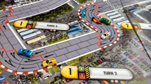 I'm the car in yellow (what isn't shown is me later taking a turn too fast and crashing)