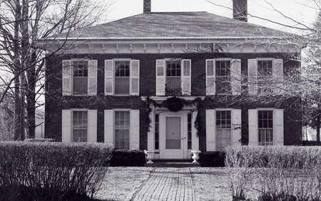 Kendall House - donated by George and Yvonne to the College was the site of many gracious evenings. during the Hopkins administration the Kendalls served as hosts to guests of Wabash.