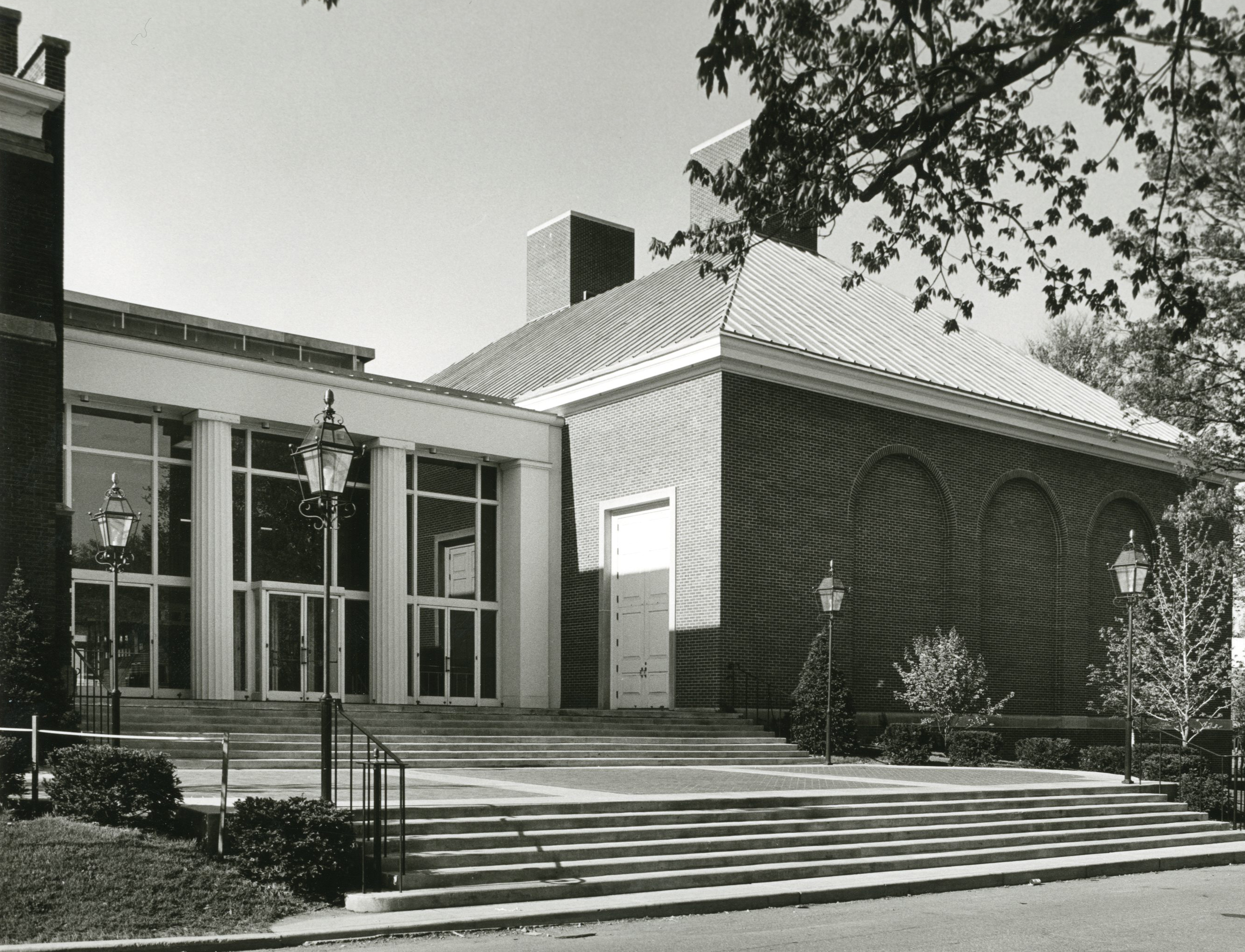 This is the McCanliss Athletic Center as completed and dedicated in 1968.  The picture above is the north entry, about where the main entry for the  Allen ...