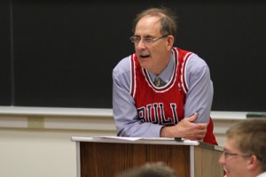 Professor of English and Commissioner of the Wabash NBA (Noontime Basketball Association) Tobey Herzog H'11