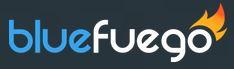 Blue fuego logo