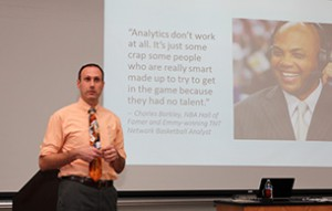 Dr. Preston Bost spoke of basketball analytics and Charles Barkley.