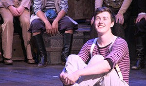 Rory Willats '17 during a recent dress rehearsal.