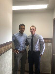 Dr. Sharma and Eric Lakomek