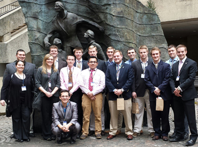 Prof. Sara Drury's class at the FBI Headquarters in D.C.,