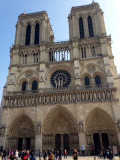 The much-visited Notre Dame