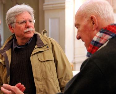 Professor Warren Rosenberg with Elias Jabbour.