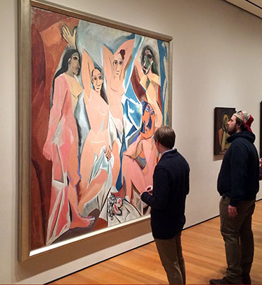 Wabash men at the NY Museum of Modern of Art