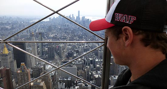 Wabash guys went to top of Empire State Building for this view.