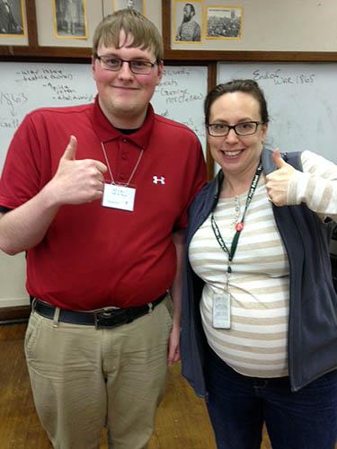 Truman Jones '16 with his host teacher.