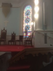 Altar view of the First African Baptist Church