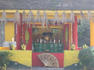 A shrine for the orisha, Oshun