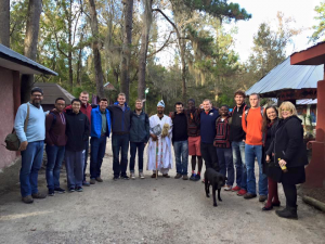 The group with the King of the Oyotunji tribe.