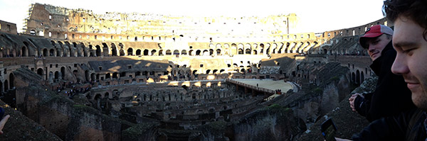 For many students a visit to the Roman Colosseum proved to be a big highlight.