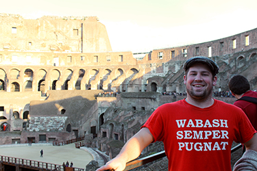 Junior Boyd Haley at Rome's most-famous site.