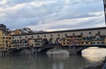 The Vasari Corridor runs atop the famed Ponte Vecchio bridge.