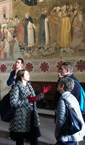 Prof. Hoerl describing the Santa Maria Novella.