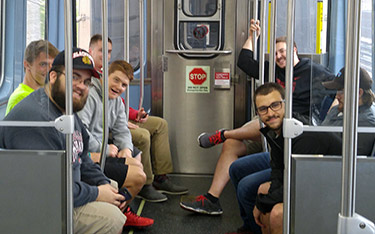 Another new experience for most of the guys was public transportation.