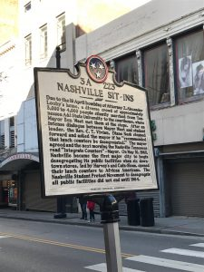 Sign at location of Nashville Sit-in during Civil Rights Movement