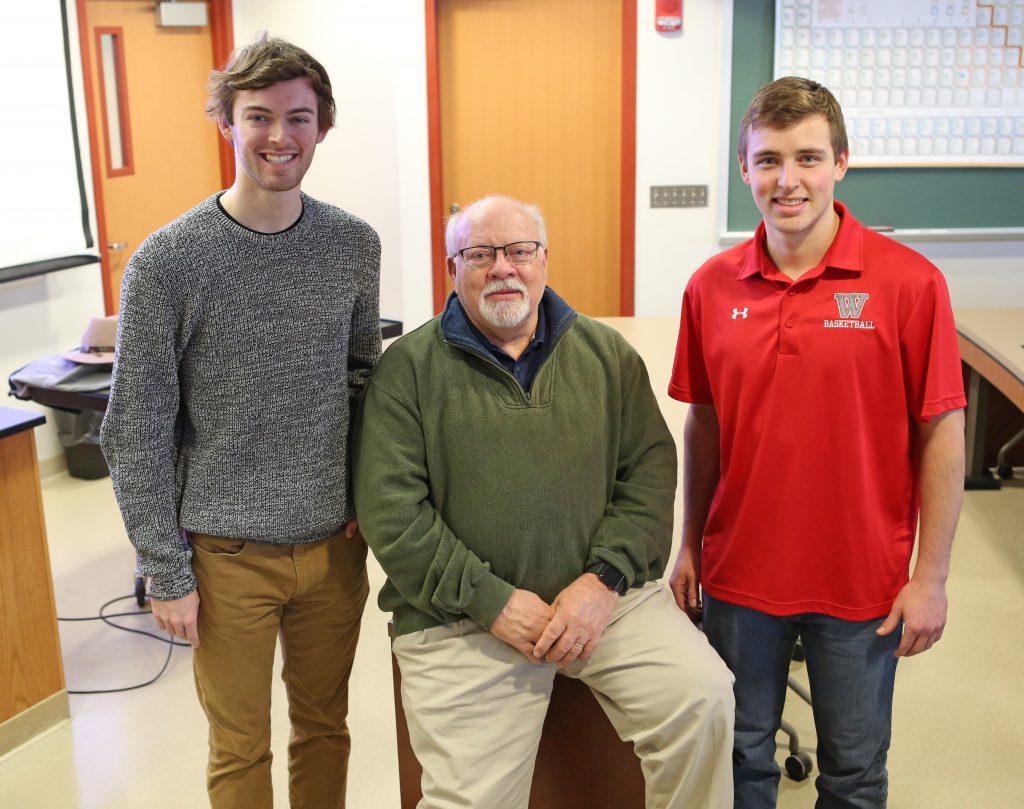 Joey Ballard, Dr. Jack Myers, and Joey Lenkey
