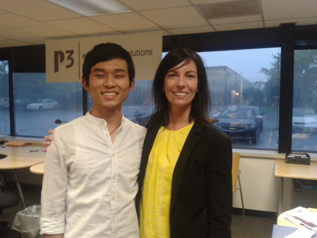 P3's Emma Knapp welcomes Yumnam to the team