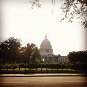 A photo of the Capitol Building Crouch snapped after work one day