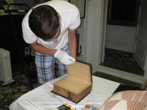 Restoring an old book