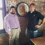Marco and Dave strike a pose at Triton Brewery