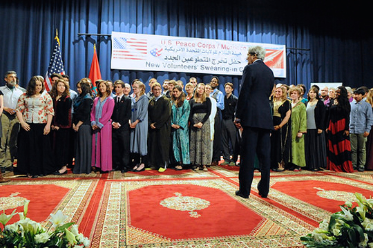 Charles-Hintz-Swearing-In-Peace-Corps-Morocco-Secretary-of-State-John-Keryy-April-4-2014-TR