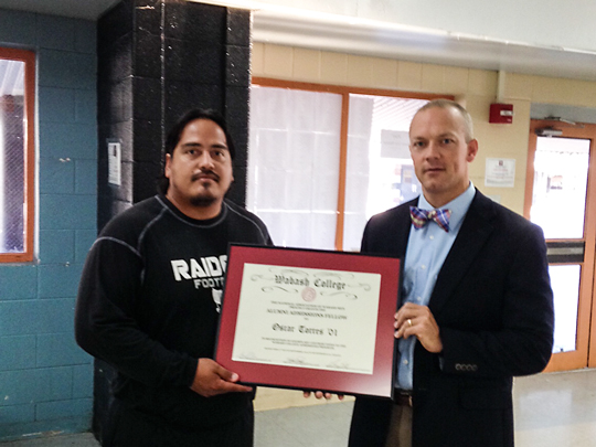 Oscar Torres '01with Chip Timmons '96