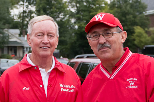 Cal Black '66 and Wabash AD Joe Haklin '73