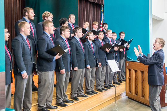 The Glee Club Sings Our National Anthem