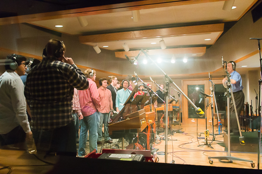 The Glee Club in the Studio
